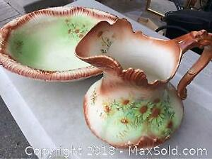 Antique Water Jug And Wash Basin A