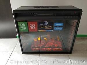 Southern Enterprises 23 inch Electric Fireplace with Heater - New