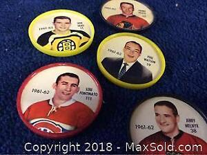 1962-63 Sheriff Hockey Coin Lot Of 5