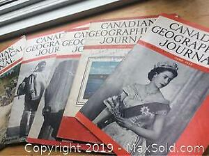 1951-53 Canadian Geographical Journal Magazine Lot