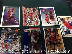 Michael Jordan Basketball Card Lot Of 7