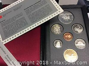 1992 Canada Silver Double Dollar Proof Coin Set