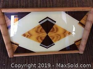 Art Deco Bauhaus Acrylic Serving Tray Bar wear