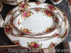 "Well OVER 100 pieces of ROYAL ALBERT ""Old Country Roses"" fine English porcelain."