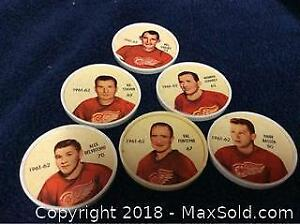 1962-63 Salada Sheriff Hockey Coin Lot Red Wings