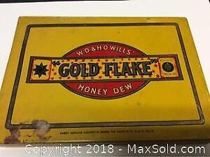 Antique Gold Flake Honey Dew Tobacco Tin