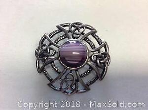 Vintage Celtic Adimite Brooch Pin