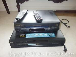 VHS Recorder And Sony 5 Disc Player B