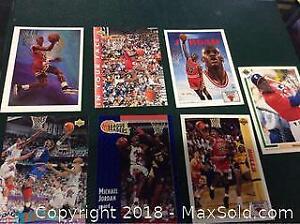Michael Jordan Basketball Card Lot Of 7