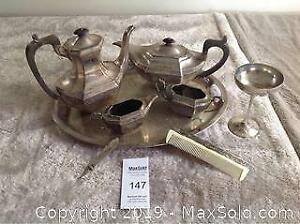 Tea Set And Misc Items