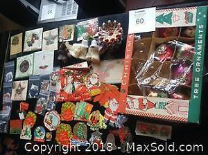 Vintage Christmas ornaments & paper stickers