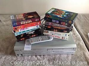 Dual VHS DVD Player With 13 VHS Cassettes