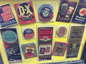 Old Gas Oil Matchbook Lot Collection