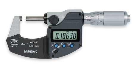 """MITUTOYO 293-348-30 Digital Micrometer,0 to 1"""",Waterproof"""