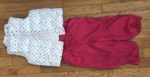 2t toddler girl White polka dot Gap vest and splash pants