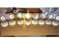 Kitchen lights set of 8 in good condition