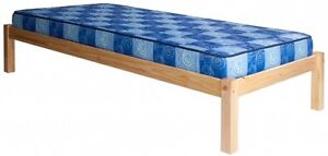 Single ( twin) bed wood frame + mattress and box spring