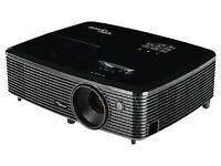 Optoma hd142x projector + large fixed screen