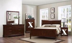 5PC Louis Philip Queen Bedroom Set in Cherry.   Starting bid:$525.00   Regular Retail $1339