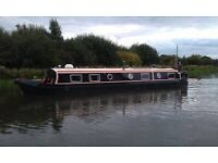 Beautiful wide beam canal boat