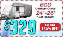 BGD-714  24-26ft CARAVAN COVER Soft Cotton Lining <> FREE POSTAGE Rye Mornington Peninsula Preview