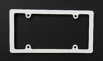 White License Plate Frame Ebay