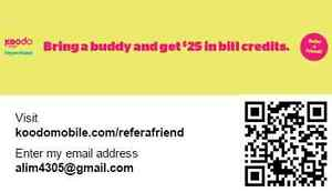 koodo refer a friend: free $25