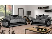 New Sheldon fabric sofa with free footstool