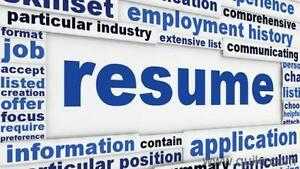 Professional resume writing services calgary