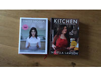Selection of cookery books for sale - including Nigella's and Gordon Ramsey's