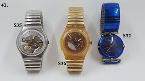 Assorted name brand watches Swatch!