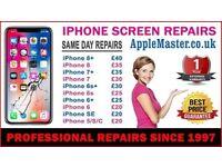 Apple iPhone Screen Repairs Express iPhone 7, 6, 6s, 5, 5s, 4s, 10 X, 8, Plus + Quick iFIX Service