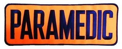 Paramedic Embroidered Patch Navy Orange 4 X 11 Jacket Back Emblem Sew On New