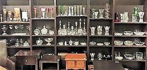 Large Crystal Selection:  Decanters, Vases & Bowls