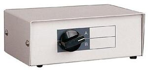 2-Port manual A/B Data Transfer Switch – parallel/serial