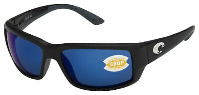 Costa Del Mar TF11OBMP, Polarized Fantail Black Blue Mirror 580P (Costa Del Mar Fantail Sunglasses)