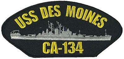 USS DES MOINES CA-134 PATCH USN NAVY SHIP HEAVY CRUISER