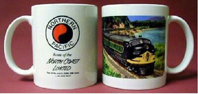 NORTHERN PACIFIC RAILROAD COFFEE MUG trains/ cup /gifts