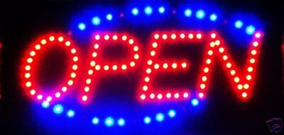 Led Neon Light Open Sign Store Shop Hanging Door Entry Display Scrolling Outdoor