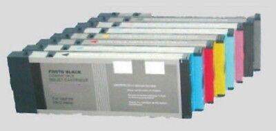 220-ml-pigment Tinte (8 x Tinte Patrone für Epson Stylus Pro 4880 4800 - je 220ml PIGMENT INK - NEU)