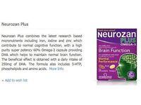 Neurozan Plus Omega 3 Brain Function and Mental Performance improvement