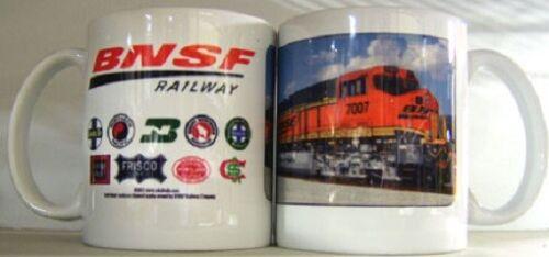 BNSF HERITAGE MUG / Collectible Train Mugs / Kitchen / Coffee / Gifts / Diesel