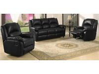 Brand New Suite with Reclining Arm Chairs. Delivery Available