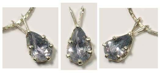 Blue White Sapphire Pendant 1½ct Antique 19thC Medieval Ecclesiastic Heaven Gem