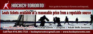 Leafs vs Canadiens  - TONIGHT - exhibition game - GREENS
