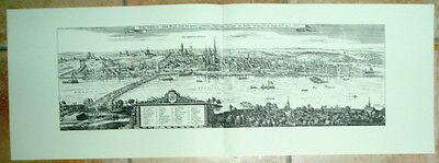 Mainz: alte Ansicht Merian Druck Stich 1650 Panorama