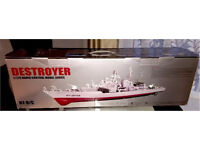 Radio Controlled Navy Destroyer Boat 1/275 Scale RC Model Ship Toy B3GZ#