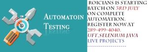 AUTOMATION TESTING ON LIVE PROJECTS  SELENIUM WITH JAVA,UFT/QTP