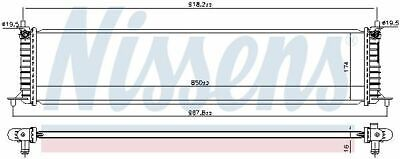 NISSENS 606454 RADIATOR ENGINE COOLING AUTO