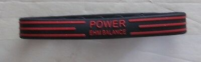 POWER SPORTS BALANCE BRACELET COLOR-BLACK/RED STRIPES IN PLASTIC CASE